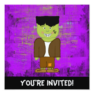 Frankenstein Halloween Invitation