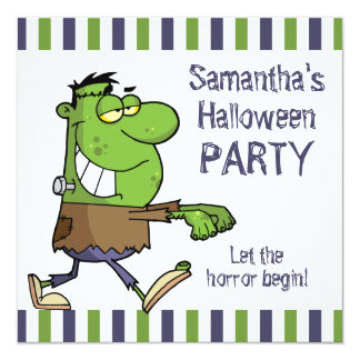 Frankenstein Halloween Party Card