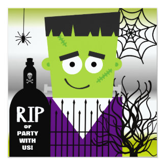 Frankenstein Halloween Party Invitation