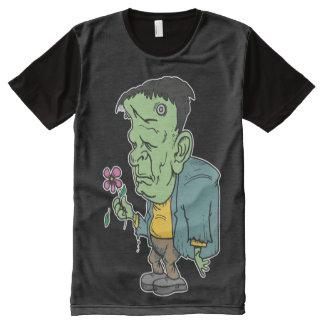 Frankenstein Holding a Flower Costume All-Over Print T-Shirt