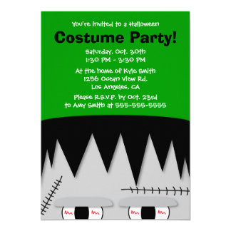 Frankenstein Kids Halloween Party Invitation