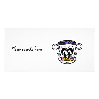 Frankenstein monkey on white personalized photo card