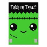 Frankenstein Monster 9 Cm X 13 Cm Invitation Card