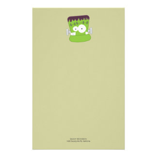 Frankenstein Monster | Halloween Note Paper