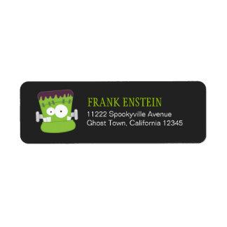 Frankenstein Monster Halloween Return Address Labe Return Address Label
