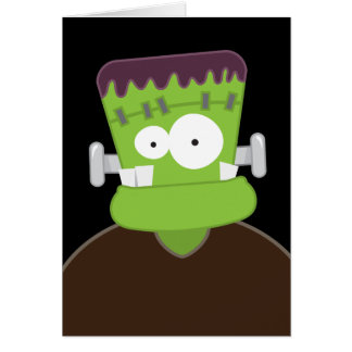 Frankenstein Monster | Kids Happy Halloween Card