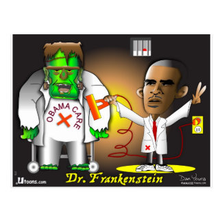 Frankenstein Monster Postcard