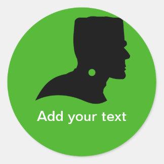Frankenstein Monster's Silhouette Classic Round Sticker