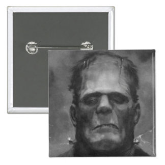 Frankenstein Pin/Button 15 Cm Square Badge