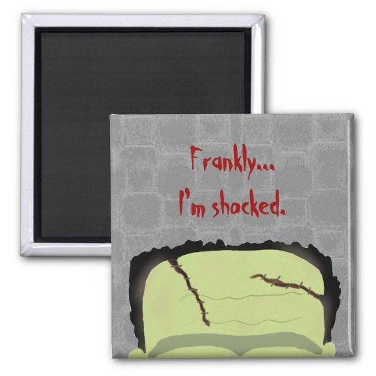 Frankenstein Pun Halloween Magnet