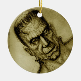 FRANKENSTEIN SEPIA ORNAMENT