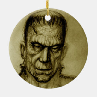 FRANKENSTEIN SEPIA ORNAMENT ART JACK JOYA