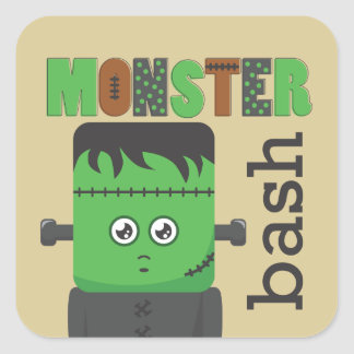 Frankenstein Square Sticker