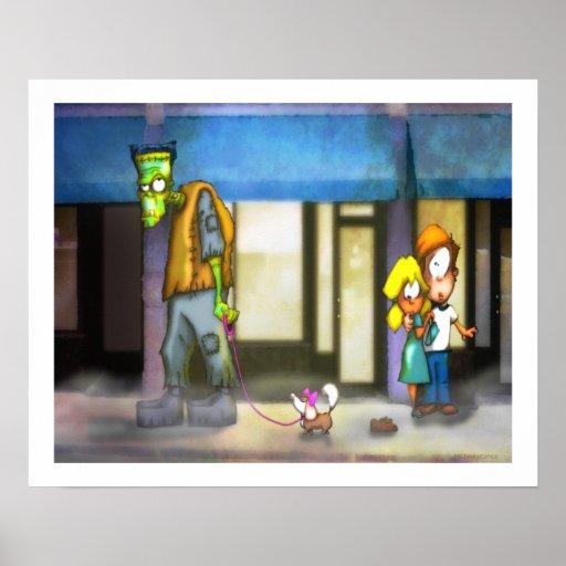 Frankenstein: The dog walker Poster