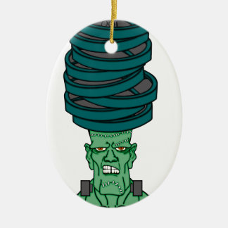 Frankenstein under weights ceramic oval decoration