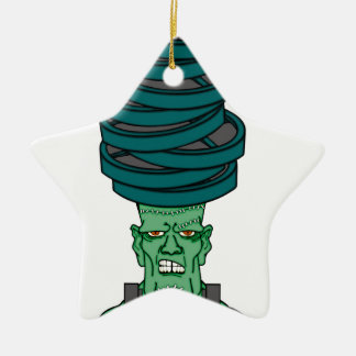 Frankenstein under weights ceramic star decoration