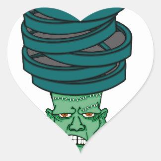 Frankenstein under weights heart sticker