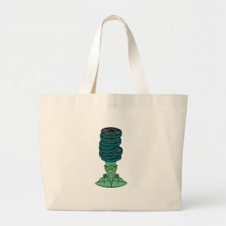 Frankenstein under weights large tote bag