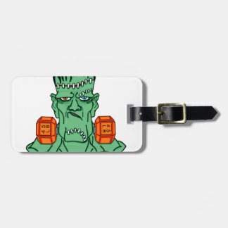 Frankenstein under weights luggage tag