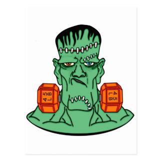 Frankenstein under weights postcard