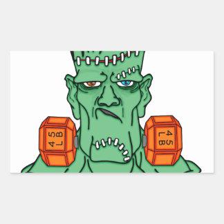 Frankenstein under weights rectangular sticker