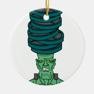 Frankenstein under weights round ceramic decoration