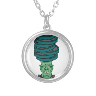 Frankenstein under weights round pendant necklace