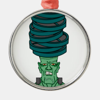 Frankenstein under weights Silver-Colored round decoration