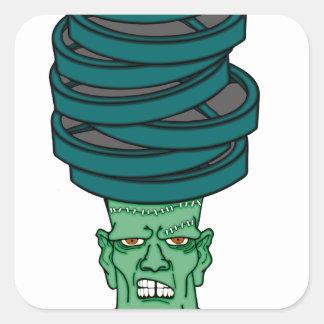 Frankenstein under weights square sticker