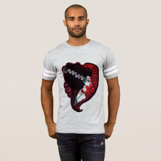 Frankenstein's Babe Football Jersey T-Shirt