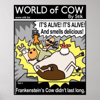 Frankenstein's Cow Posters