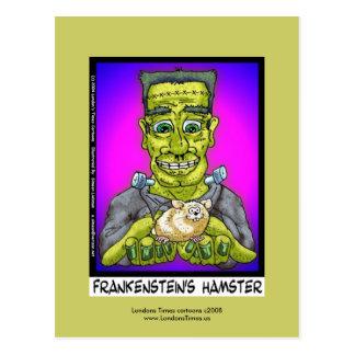 Frankenstein's Hamster Funny Cartoon Postcard