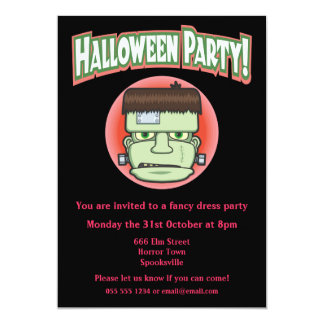 Frankenstein's Monster Halloween Invitation