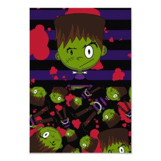 Frankensteins Monster Patterned RSVP Card