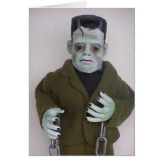 Frankenstien Monster Halloween Note Card