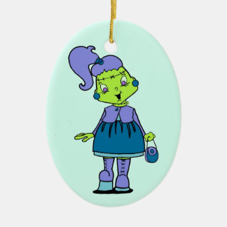 Frankenstina Christmas Ornament