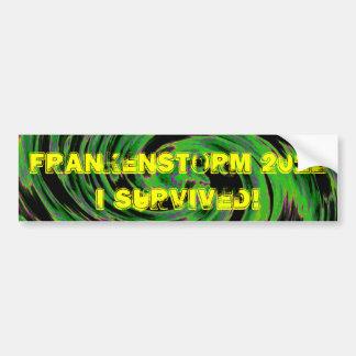 Frankenstorm 2012 bumper sticker