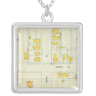 Frankfort, Kentucky 7 Silver Plated Necklace