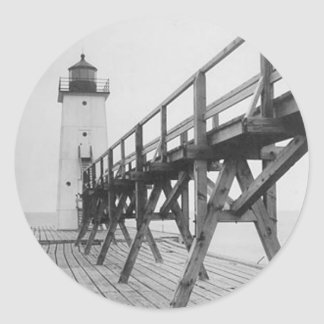 Frankfort Lighthouse Classic Round Sticker