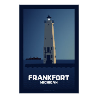 Frankfort Lighthouse, Michigan Poster