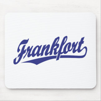 Frankfort script logo in blue mouse pad