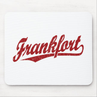 Frankfort script logo in red distressed mouse pad