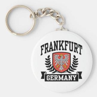 Frankfurt Basic Round Button Key Ring