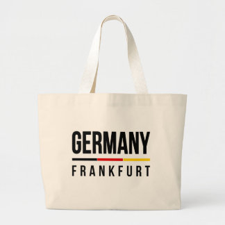Frankfurt Germany Large Tote Bag