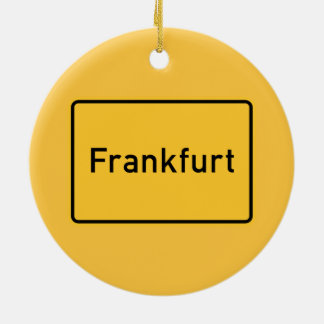 Frankfurt, Germany Road Sign Christmas Ornament