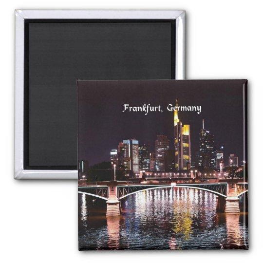 Frankfurt, Germany Square Magnet