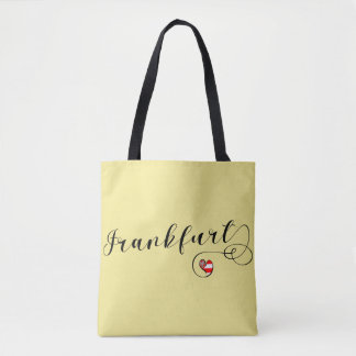 Frankfurt Heart Grocery Bag, Germany Tote Bag