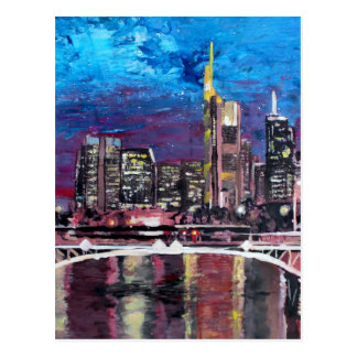 Frankfurt Main Germany - Mainhattan Skyline Postcard