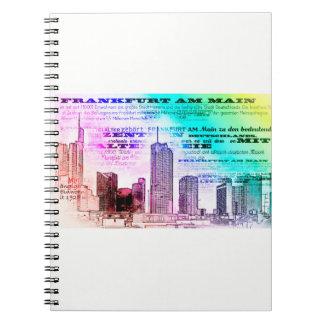 Frankfurt, Skyscraper Architecture - Popart Notebook