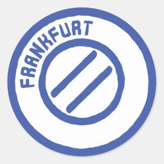 Frankfurt stamp classic round sticker